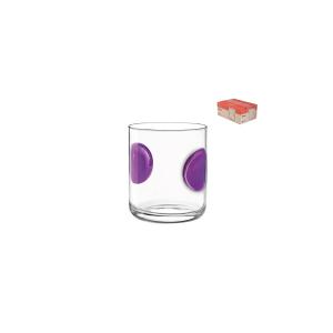 BORMIOLI ROCCO Set 6 Bicchieri Vetro Giove Purple Cl31 Arredo Tavola