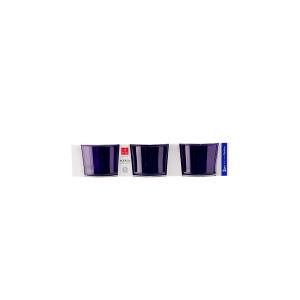 BORMIOLI ROCCO Set 6 X 3 Bicchieri In Vetro Bodega Mini Purple Arredo Tavola