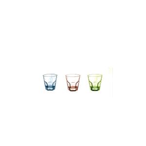 PASABAHCE Set 8 X 3 Bicchieri In Vetro Haze Turchese Ese 27 Arredo Tavola