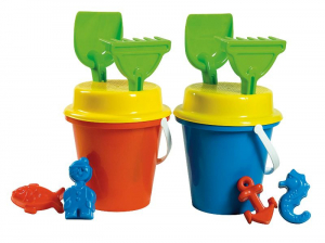 ANDRONI Set Bucket With Mold Palette And Rake Colors Assorted Set 551