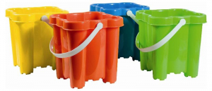 ANDRONI Tower Shaped Bucket With Handle Colors Assorted Bucket 716
