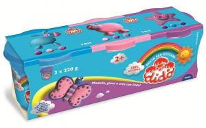 FILA Tris Jar Dido 220G Purple pink blue Pasta Game Mouldable 722