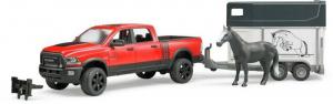BRUDER Ram 2500 Power Wagon Con Rimorchio E 1 Cavallo Jeep Quad Gioco Maschio 674